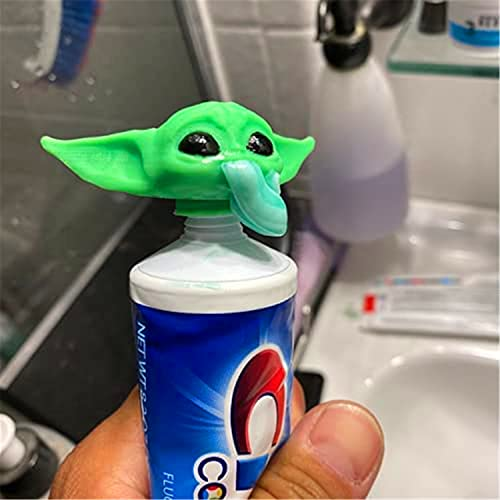 2021 New G-rogu Toothpaste Topper, Y-oda Baby Closing Toothpaste Caps for Bathroom Hygiene, Yoda Toothpaste Dispenser, Bathroom Accessories Gifts for Movie Fans
