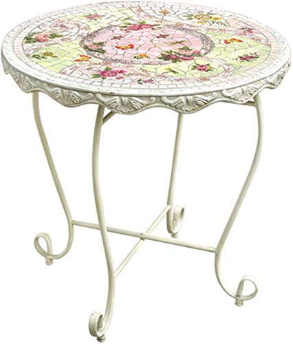 Outdoor Picnic Table Outdoor Side Table, Mosaic Patio Table, Small Outdoor End Table for Patio Garden Balcony Poolside with 2 Chairs (Ross) Bbq Party Table (Color : C)