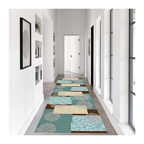 KKCF-Alfombras de pasillo, Moderna Fibra Superfina Respaldo Goma Antideslizante para Cocina Exterior Entrada, El Tamaño Se Puede Personalizar (Color : A, Size : 0.8x4m)