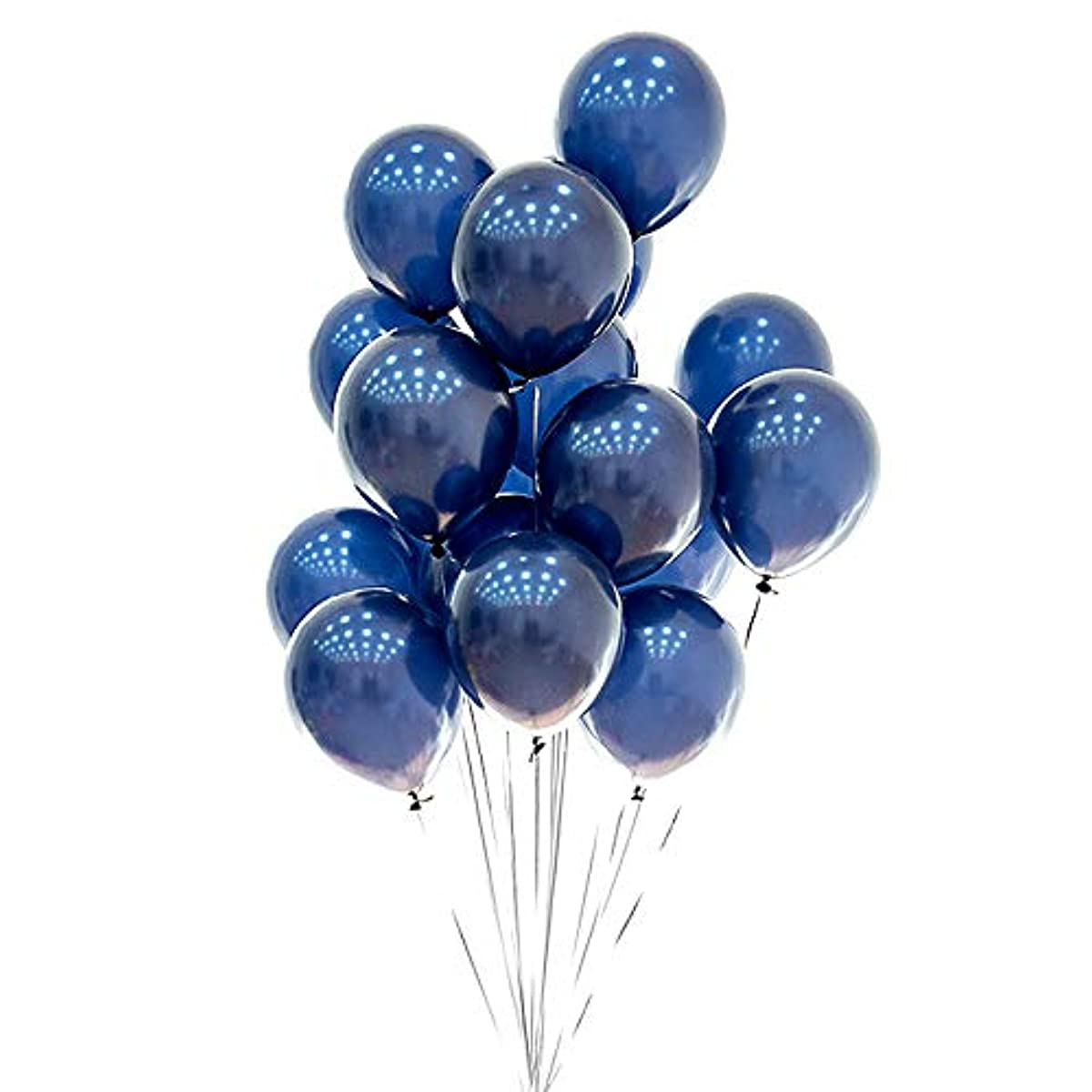 Ink Blue Balloons 10 inch Latex Balloon with Pink White for Wedding Party Festival Decoration 50pcs (Blue)