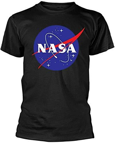 NASA - Logo - Camiseta Oficial Hombre - Negro, Medium