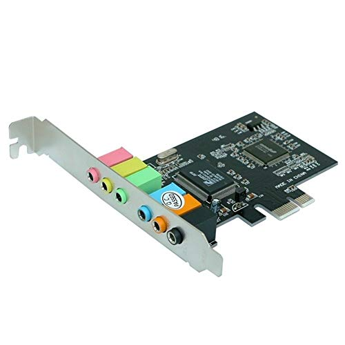 lifebea schede grafiche per Computer PCI Express X1 PCI-e 7.1 canali SPDIF Via chipset Audio della Scheda Audio Digitale (Color : Black)