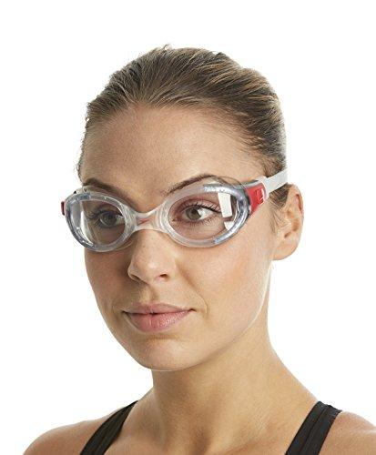 Speedo Futura Biofuse Gog Uni Occhialino Adulto, Trasparente/Trasparente