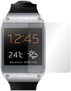 Slabo 2 x displayskyddsfolie för Samsung Galaxy Gear skärmskydd skyddsfolie Crystal Clear KLAR