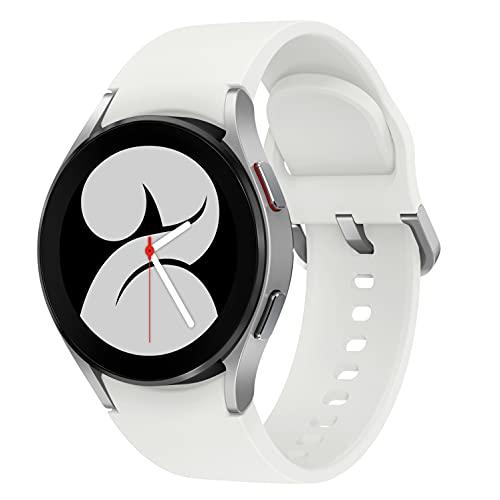 Samsung Galaxy Watch4, Runde Bluetooth Smartwatch, Wear OS, Fitnessuhr, Fitness-Tracker, 40 mm, Silver (Deutche Version)