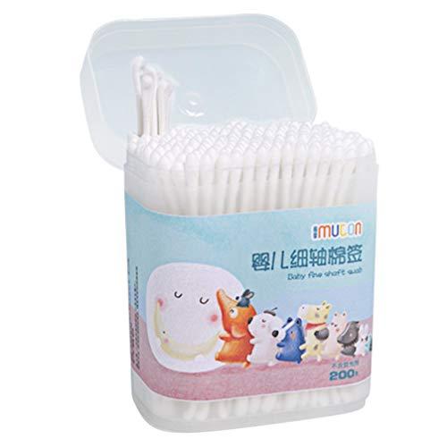 STOBOK 400 Stück Baby Wattestäbchen Ohr Nase Reinigung Q Tipps Ohrhörer Tupfer Reiniger für Kleinkinder Kleinkinder Kinder