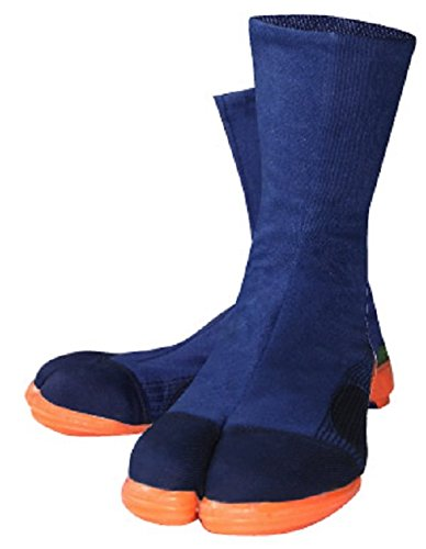 [ワークスオム] 特許鉄先芯入高所用縫付地下足袋ファスナータイプ メンズ 2000 ネイビー 26.5 cm