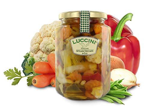 Luccini Ortolana Croccante in Olio, 720 Grammi, Conserve di Verdura di Prima qualità
