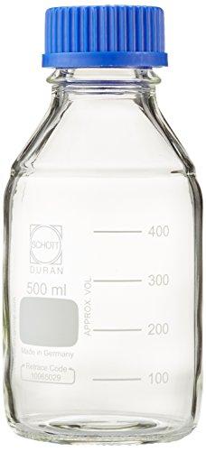 Duran 21801445laboratorio bottiglia con filettatura DIN, capacità di 500ml (confezione da 10)