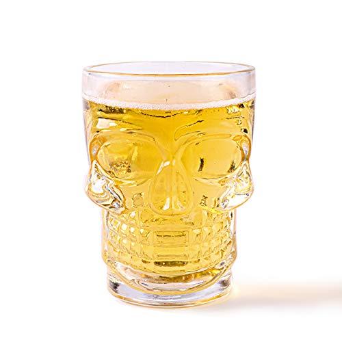 Sektgläser Beiläufig Mit Griffschädel Bierglas 540ml / 650ml Weinglas Verdicken Glas Wasser Tasse Saft Lostgaming (Size : 650ML)