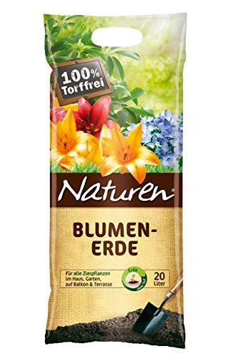 Substral Naturen Blumenerde, Universalerde ohne Torf, für alle Zierpflanzen, mit Lavagranulat und Tonmineralien, 20 L