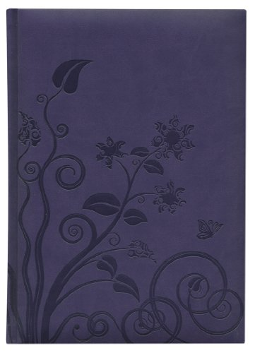 Pierre Belvedere Organic Flower Large Notebook, Padded Cover, Violet Blue (276900)