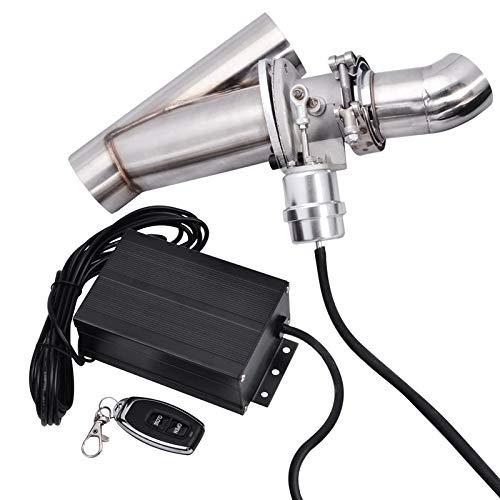 Fangaichen Energía Evil Energy High Proformance 2.5 Pulgadas Sistema de Recorte de Escape eléctrico E-Corte de la Bomba de vacío con la tubería Remota Y Corte eléctrico Suitable for Car