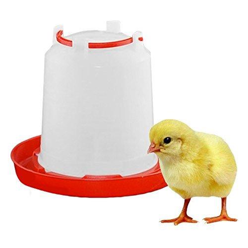 Lunji Kunststoff-Tränke, 1.5 L Trinkbrunnen, für Geflügel Küken und Hühner