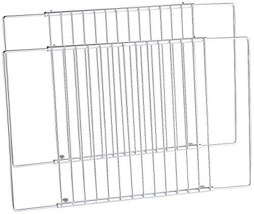 Rosenstein & Söhne Backofenrost: 2er Pack Universal Gitter/-einlegeboden, für Kühlschrank/Gefrierfach (Backofen-Gitter)