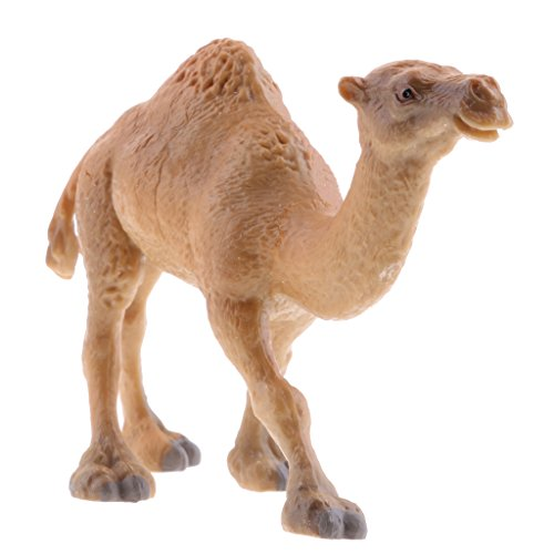 MagiDeal Kunststoffe Tiermodell Zoo Figur Kinder Figuren Spielzeug Geschenk - Kamel