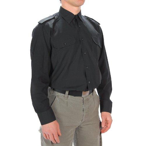 Diensthemd Langarm schwarz, Größe:M