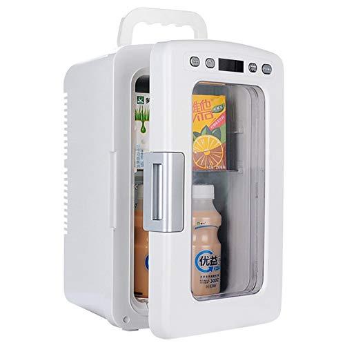 Mini Réfrigérateur, Réfrigérateur de Voiture 10L avec porte Transparente, 12 V/230 V de HOPELJ