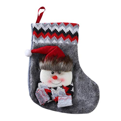 Sperrins Weihnachtsstrumpf Weihnachtsmann Schneemann Elch Socke Weihnachtsgeschenk Bonbontüten Christbaumschmuck (Farbe 2)