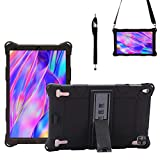 Transwon Case for VANKYO MatrixPad S21, DICEKOO Tablet 10 Inch, Novel TTT/ OUZRS 2 in 1 Tablets 10 Inch Tablet, DUODUOGO P8 G12 Tablet, GOWIN/ AOYODKG P8, Aitszon 10 Inch Tablet, S11 Pro 10.1 - Black