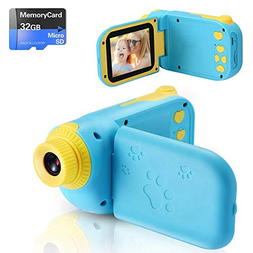 🎁【8milioni di pixel &Video HD 1080P】Alta qualità per video HD da 8 megapixel e 1080p con schermo IPS HD da 2.4 pollici, supporto massimo di micro SD card da 32 GB. Con una luce di riempimento, una lampada flash e una funzione di zoom 4x, i tuoi bambi...