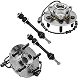 Detroit Axle - 2WD 5 LUG Front Wheel Bearing Hub Assembly + Sway Bar for...