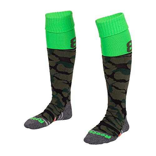 Reece Numbaa Stutzenstrumpf Hockey Strümpfe armygrün-neongrün armygrün-neongrün, 30-35