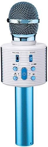 Bluetooth Karaoke Mikrofon, NASUM Drahtlose Tragbares Handmikrofon 5 Klangmodi mit Lautsprecher für Erwachsene und Kinder für Sprach- und Gesangsaufnahmen, für Android/PC