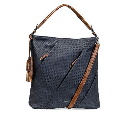 Rieker Damen H1057 Handtasche, Blau, 410x110x355