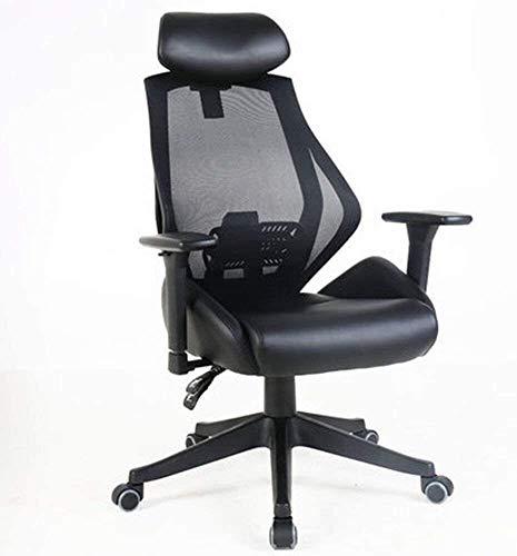 Sillones GSN Silla de Ordenador ChairHousehold Oficina Jefe de Descanso de la Almuerzo de elevación Barandilla Negro (Color : B)