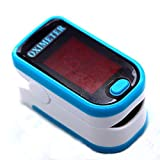 Sahyog Wellness LED Fingertip Pulse Blood Oxygen SpO2 Saturation Oximeter Monitor Pulsometros (White and Blue)