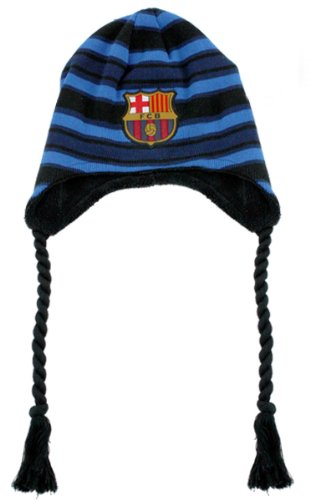 FC Barcelone Messi Bonnet de Ski Bonnet d'hiver Bonnet Noir/Bleu (Veuillez la Taille mitteilen) Acier