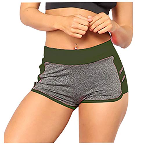 For Sale! Workout Shorts for Women - High Waisted Compression Shorts Elastic Bike Shorts Stretchy Yo...