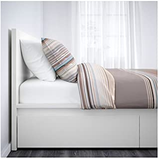 IKEA Full Size High Bed Frame/4 Storage Boxes, White 343838.11520.414
