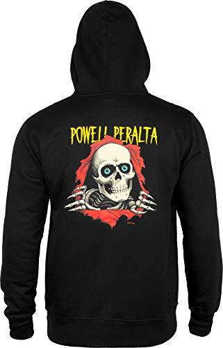 Powell-Peralta Ripper - Felpa con Cappuccio, Taglia M, Colore: Nero