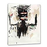 Jean Michel Basquiat 《Autorretrato》 cuadros decoracion dormitorios salon decoración pared lienzos decorativos cuadros decoracion salon modernos (80x105cm31x41inch, Enmarcado)