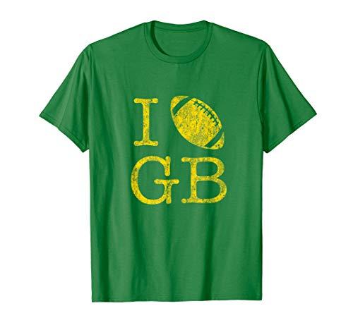 Vintage Sunday Funday TShirt I Love Green Bay Football Tee