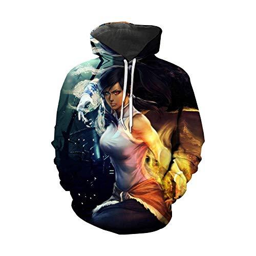 Men Women Fashion Hoodies Avatar The Legend of Korra 3D Print Hoodies Streetwear Casual Cosplay Sweatshirt