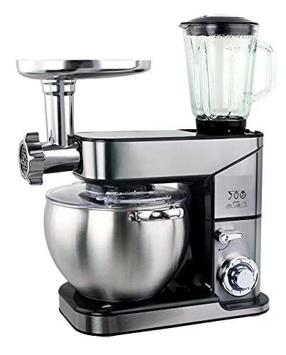 ROYALTRONIC Robot de cocina de 10 litros, 3 en 1, máx. 2500 W, color plateado