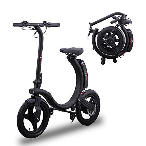 Bicicleta eléctrica portátil para adultos de 36 V/6 Ah, 350 W, marco plegable, bicicleta eléctrica de 12 pulgadas