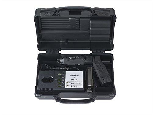 パナソニック充電スティックインパクトEZ7521(7.2V)トルク25N・mワイド・スポットLED搭載1.5Ah電池パック×2個・充電器・ケース付ブラックEZ7521LA2S-B