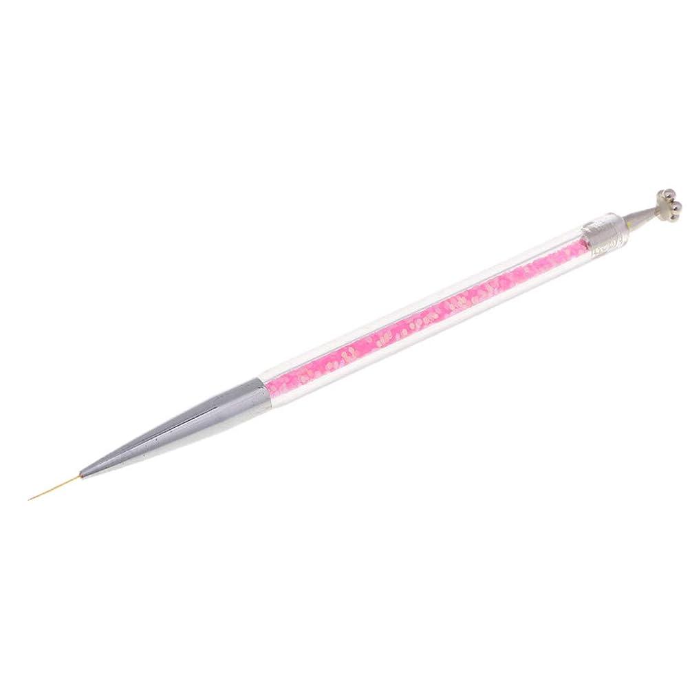 曇ったスポーツ息苦しいFenteer ネイルアートペン ネイルライナー ネイルブラシ ダブルヘッド マグネットチップ ペイントペン 3タイプ選べ - 11mmピンク