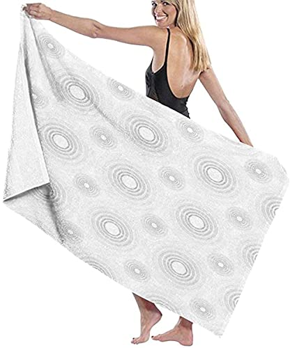 Telo Mare Grande 130 ×80cm, Disegno geometrico abbozzato grigio,Asciugamano da Spiaggia in Microfibra Asciugatura Rapida,Ultra Morbido,Uomo,Donna,Bambina