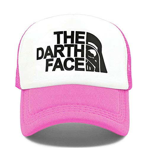 Mdsfe Trucker muts grappige muts man het gezicht hoed baseballpet koel zomer k2795 Rose White-A2795
