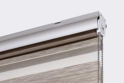 Estoralis Margaery Estor Enrollable Doble Tejido, Noche y día, Beige, 160 x 250 cm