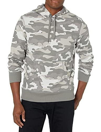 Amazon Essentials Men's Hooded Fleece Sweatshirt, Grey Camo, XX-Large