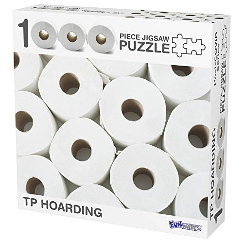 Funwares TP Hoarding Toilet Paper Puzzle 1000 Piece Jigsaw Puzzle