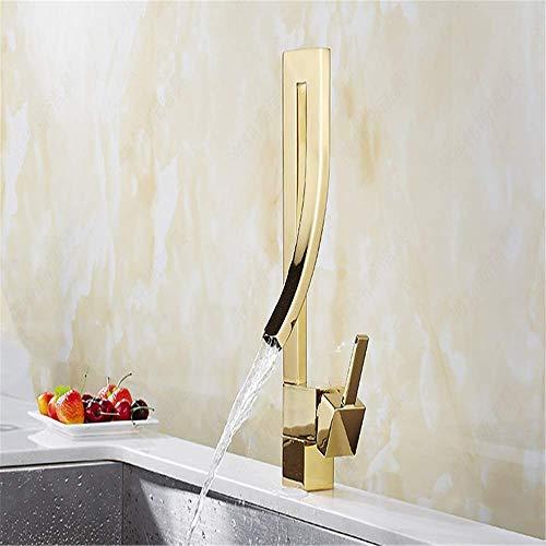 Moderne einzigartige wasserfall wasserhahn waschbecken wasserhahn golden flow control drachen luxus küche waschbecken wasserhahn
