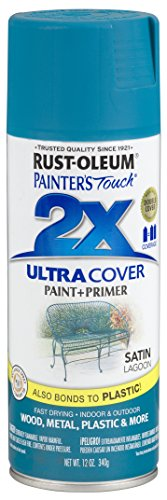 Rust-Oleum 257461 Painters Touch 2X Spray, 12-Ounce, Satin Lagoon