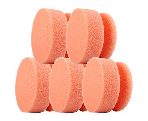 Clean Extreme Vernis Souris orange Soft – Set de 5 – polierpad/éponge de polissage pour la voiture polissage (Accessoire) de polissage – main polierpad application, éponge de nettoyage éponge
